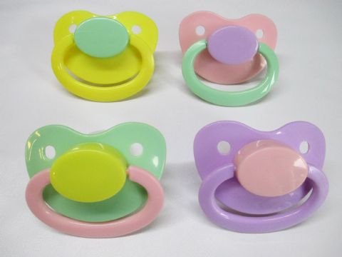 Pastels Mix and Match 4 x Large Shield/Teat Pacifiers Set